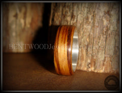 "Bentwood Ring - ""Zebrano"" African Zebrawood Wood Ring on Fine Silver Core - Bentwood Jewelry Designs - Custom Handcrafted Bentwood Wood Rings  - 4"