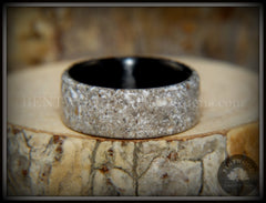 "Bentwood Ring - ""Remembrance"" Cremation Ash Inlay on Carbon Fiber Core Liner handcrafted bentwood wooden rings wood wedding ring engagement"
