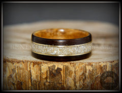 cremation wood wedding engagement ring
