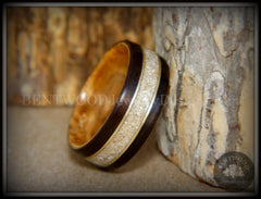 Natural cremation wood ring