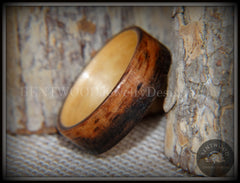Bentwood Ring - Macassar Ebony Wood Ring (Striped) with Birch Liner using Bentwood Process handcrafted bentwood wooden rings wood wedding ring engagement