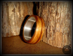 "Bentwood Ring - ""Zebrano"" African Zebrawood Wood Ring on Fine Silver Core - Bentwood Jewelry Designs - Custom Handcrafted Bentwood Wood Rings  - 6"