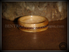 "Bentwood Ring - ""Sacrifice"" Bethlehem Olive Wood Ring with Twisted Copper Inlay handcrafted bentwood wooden rings wood wedding ring engagement"