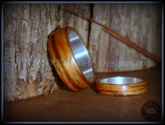 Bentwood Rings Set - Zebrawood Ring Set with Silver Metal Core - Bentwood Jewelry Designs - Custom Handcrafted Bentwood Wood Rings  - 2