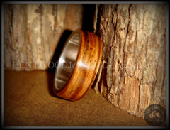 "Bentwood Ring - ""Zebrano"" African Zebrawood Wood Ring on Fine Silver Core - Bentwood Jewelry Designs - Custom Handcrafted Bentwood Wood Rings  - 2"