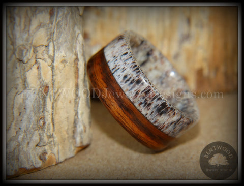 "Bentwood Ring - ""The Pursuit"" Antler and Rosewood Inlay"
