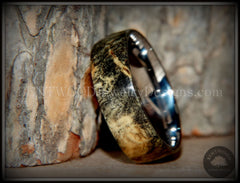 "Bentwood Ring - ""Ohio"" Buckeye Burl Wood Ring with Surgical Grade Stainless Steel Comfort Fit Metal Core - Bentwood Jewelry Designs - Custom Handcrafted Bentwood Wood Rings  - 3"