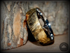 "Bentwood Ring - ""Ohio"" Buckeye Burl Wood Ring with Surgical Grade Stainless Steel Comfort Fit Metal Core - Bentwood Jewelry Designs - Custom Handcrafted Bentwood Wood Rings  - 5"