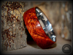 "Bentwood Ring - ""Rarity"" Amboyna Burl Wood Ring with Surgical Grade Stainless Steel Comfort Fit Metal Core - Bentwood Jewelry Designs - Custom Handcrafted Bentwood Wood Rings  - 1"