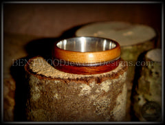 Bentwood Ring - Rosewood & Bamboo Wood Ring with Fine Silver Core and Thick Silver Guitar String Inlay - Bentwood Jewelry Designs - Custom Handcrafted Bentwood Wood Rings  - 6