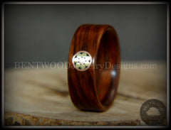 "Bentwood Ring - ""Metal Mosaic II"" Kingwood Ring with Copper/Brass Pattern Inlay handcrafted bentwood wooden rings wood wedding ring engagement"