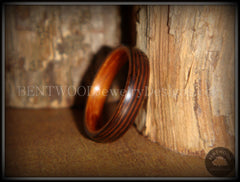Bentwood Rings - Wenge Wood Ring with Cherry Liner using Bentwood Process - Bentwood Jewelry Designs - Custom Handcrafted Bentwood Wood Rings  - 2