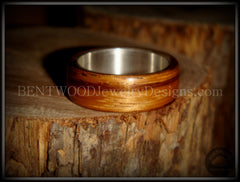 "Bentwood Ring - ""Zebrano"" African Zebrawood Wood Ring on Fine Silver Core - Bentwood Jewelry Designs - Custom Handcrafted Bentwood Wood Rings  - 3"