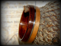 Bentwood Ring - Rosewood and Bamboo Ring with Guitar String Inlay - Bentwood Jewelry Designs - Custom Handcrafted Bentwood Wood Rings  - 5