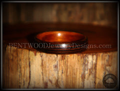Bentwood Ring - Wenge Wood Ring with Cherry Liner using Bentwood Process - Bentwood Jewelry Designs - Custom Handcrafted Bentwood Wood Rings