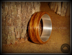 "Bentwood Ring - ""Zebrano"" African Zebrawood Wood Ring on Fine Silver Core - Bentwood Jewelry Designs - Custom Handcrafted Bentwood Wood Rings  - 5"