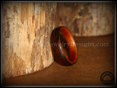 Bentwood Rings - Wenge Wood Ring with Cherry Liner using Bentwood Process - Bentwood Jewelry Designs - Custom Handcrafted Bentwood Wood Rings  - 4