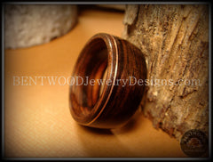 Bentwood Ring - Macassar Ebony Wood Ring with Copper Inlay - Bentwood Jewelry Designs - Custom Handcrafted Bentwood Wood Rings  - 3