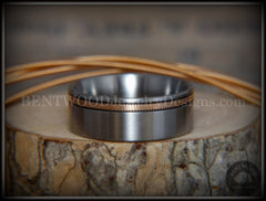Bentwood Ring - Bronze Guitar String Offset Inlay on Surgical Grade Hypo-Allergenic Stainless Steel Core - Bentwood Jewelry Designs - Custom Handcrafted Bentwood Wood Rings  - 3