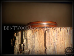 "Bentwood Ring - ""Electric"" Rosewood Wood Ring with Guitar String Inlay - Bentwood Jewelry Designs - Custom Handcrafted Bentwood Wood Rings  - 2"