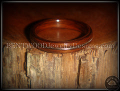 "Bentwood Ring - ""Electric"" Rosewood Wood Ring with Guitar String Inlay - Bentwood Jewelry Designs - Custom Handcrafted Bentwood Wood Rings  - 4"