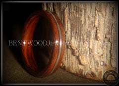 "Bentwood Ring - ""Electric"" Rosewood Wood Ring with Guitar String Inlay - Bentwood Jewelry Designs - Custom Handcrafted Bentwood Wood Rings  - 3"