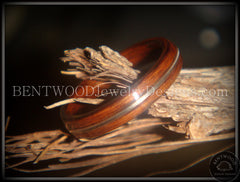 "Bentwood Ring - ""Electric"" Rosewood Wood Ring with Guitar String Inlay - Bentwood Jewelry Designs - Custom Handcrafted Bentwood Wood Rings  - 5"