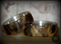 "Bentwood Rings Set - ""Midwest"" Buckeye Burl on Silver Core Classic Wood Ring Bands - Bentwood Jewelry Designs - Custom Handcrafted Bentwood Wood Rings  - 2"