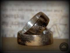 "Bentwood Rings Set - ""Midwest"" Buckeye Burl on Silver Core Classic Wood Ring Bands - Bentwood Jewelry Designs - Custom Handcrafted Bentwood Wood Rings  - 4"