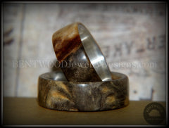"Bentwood Rings Set - ""Midwest"" Buckeye Burl on Silver Core Classic Wood Ring Bands - Bentwood Jewelry Designs - Custom Handcrafted Bentwood Wood Rings  - 6"