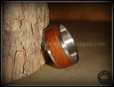 Bentwood Ring - Rosewood with Surgical Grade Stainless Steel Comfort Fit Metal Core