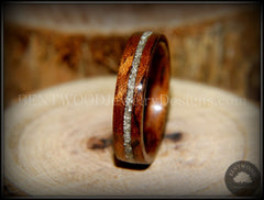 Bentwood Ring - Bubinga Wooden Ring with Silver Glass Inlay - Bentwood Jewelry Designs - Custom Handcrafted Bentwood Wood Rings  - 4
