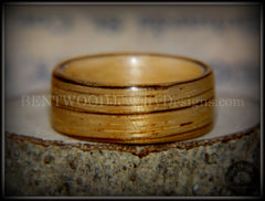 Bentwood Ring - Zebrawood on Maple Core - Bentwood Jewelry Designs - Custom Handcrafted Bentwood Wood Rings