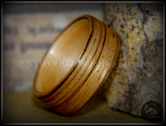 Bentwood Ring - Zebrawood on Canadian Maple Core handcrafted bentwood wooden rings wood wedding ring engagement