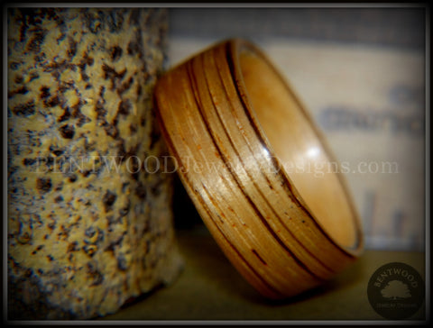 Bentwood Ring - Zebrawood on Canadian Maple Core