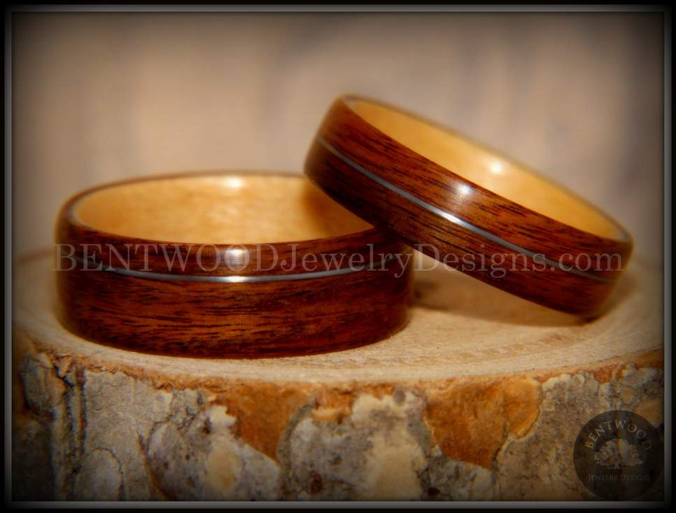 Bentwood Wood Ring Amboyna Burl Wooden Ring