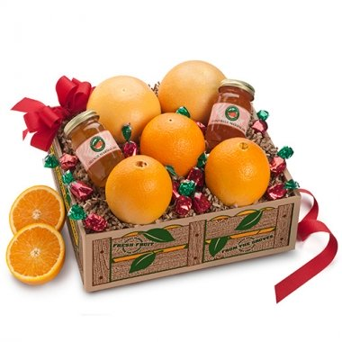Florida Oranges, Ruby Red Grapefruit, Two Jars Marmalade, hard fruit Candies