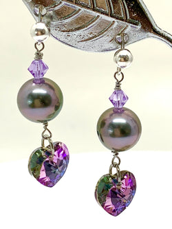 Boucles d'oreilles Purple Heart