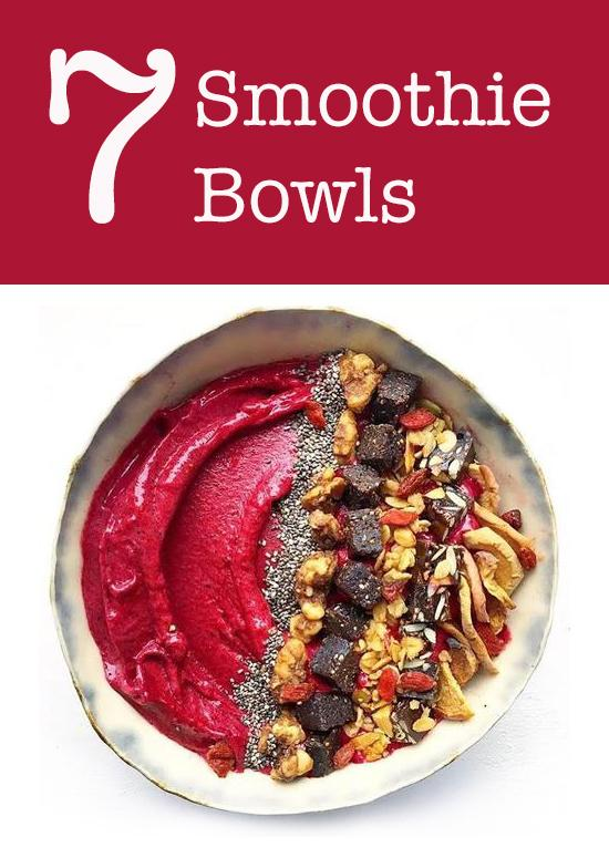 7 Smoothie Bowls Topped with NibMor Chocolate