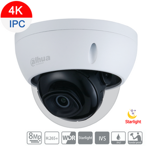Dahua 8MP 4K Starlight IP Dome Camera Fixed 2.8mm - CCTVMasters.com.au