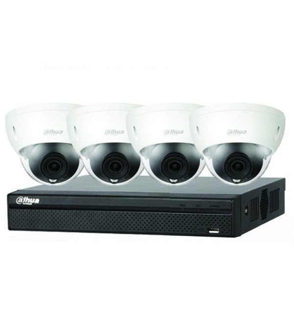 "Dahua 4 x 4MP Motorised Dome Bundle kit with 4CH NVR + 2TB HDD Kit includes: 1 x 4ch NVR4104HS-P-4KS2 1 x Surveillance HD-2TB installed 4 x Motorised Dome HDBW2431RP-ZS-27135-S2   Features: 4MP, 1/3"" CMOS image sensor, low illuminance, Outputs 4MP (2560 × 1440)@25/30 fps, Built-in IR LED, max IR distance: 40 m"