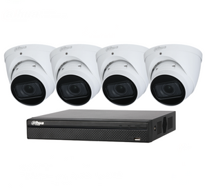 "Dahua 4 x 4MP Motorized Turrret Bundle Kit with 4Ch NVR + 2TB HDD Kit includes: 1 x 4ch NVR4104HS-P-4KS2 1 x Surveillance HD-2TB installed 4 x Motorized Turret DH-IPC-HDW2431TP-ZS-S2   Features: 4MP, 1/3"" CMOS image sensor,low illuminance, high image definition Built-in IR LED, max IR distance: 40 m"