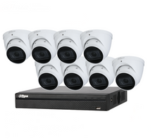 Load image into Gallery viewer, Dahua 8CH NVR 4MP IP Motorised Turret Bundle Kit 2TB