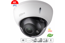 Load image into Gallery viewer, Dahua 8MP Camera, 4K, DH-IPC-HDBW5831RP-ZE-2712, IP Vandal Dome Starvis Smart ePoE Motorized - CCTVMasters.com.au