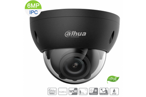 Dahua 6MP IP Vandal Dome Black Motorized 2.7~13.5mm, ePOE