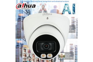 Dahua Smart AI 4MP Starlight+ IP Turret Fixed 2.8mm, Mic,ICR+White Light, PoE