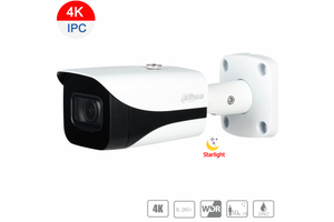 Dahua 8MP 4K Starlight IP Bullet Fixed 2.8mm,ICR,WDR,IR 50m,IP67,PoE