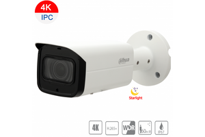 Dahua 8MP 4K Starlight IP Bullet Motorized 3.7~11mm, ICR,WDR,IR 60m,IP67,PoE