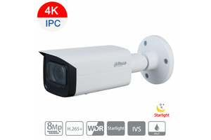 Dahua Bullet IP Camera 8MP Motorised 4K, Dahua NVR 16CH 3TB Package Kit