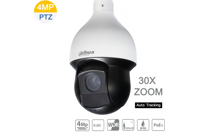 Dahua DH-SD59430U-HNI 4MP IP PTZ 30X Zoom, IR 100m, Auto Tracking, POE+